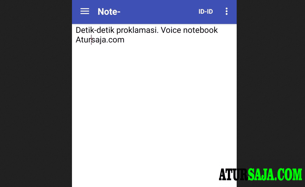 aplikasi speech to text indonesia offline voice notebook