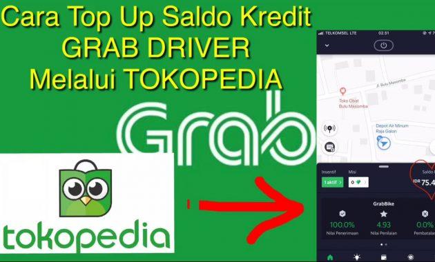 cara top up grab driver via tokopedia