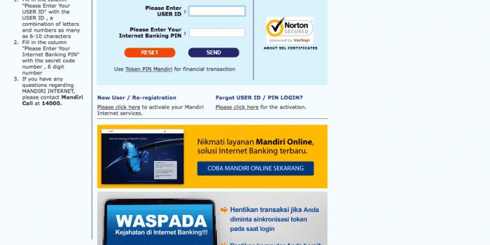 apa saja yang dapat dilakukan melalui internet banking mandiri