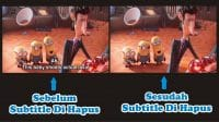 cara menghilangkan subtitle bawaan