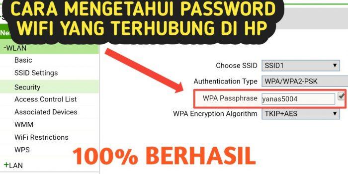 bagaimana cara melihat password wifi yang sudah terhubung di android tanpa root
