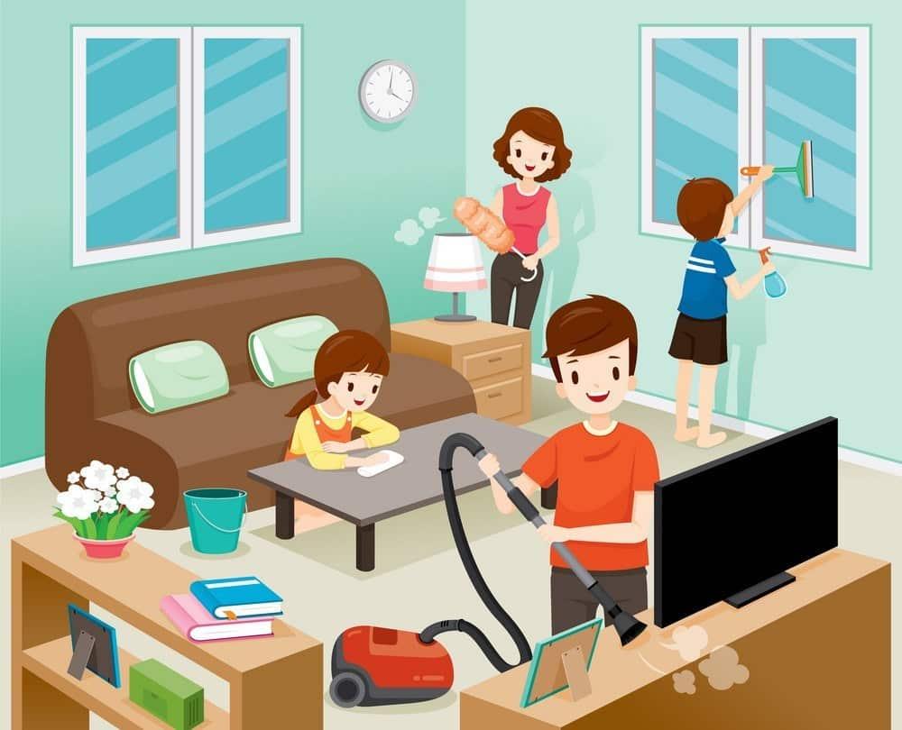 contoh kerjasama di rumah