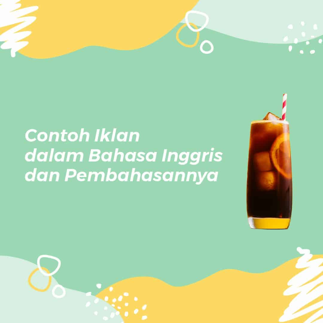 contoh iklan dalam bahasa inggris